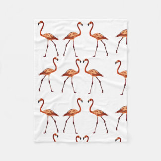 Pink Flamingos Fleece Blanket, Small