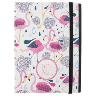 "Pink Flamingos & Flowers Illustration Pattern iPad Pro 12.9"" Case"