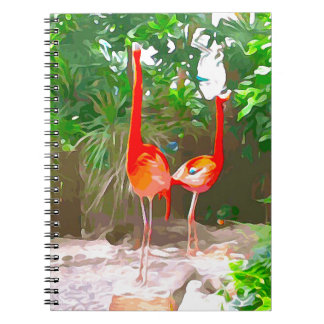 Pink Flamingos in Key West Notebook