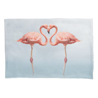 Pink Flamingos in Love (2 sides) Pillowcase