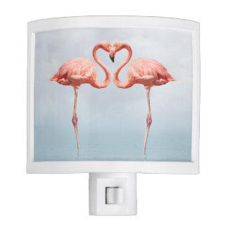 Pink Flamingos in Love Night Light