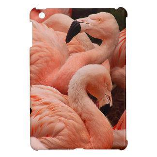Pink flamingos iPad mini case