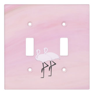 Pink Flamingos Light Switch Cover