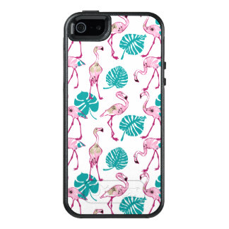 Pink Flamingos OtterBox iPhone 5/5s/SE Case