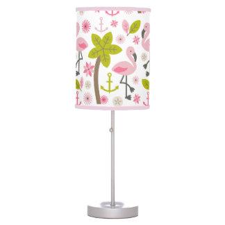Pink Flamingos + Palm Trees Lamp