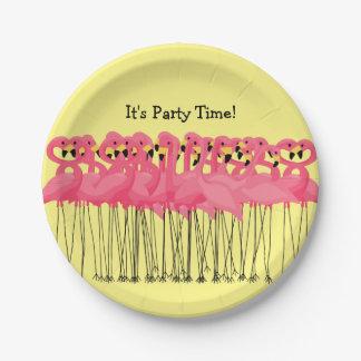 Pink Flamingos Party Plates