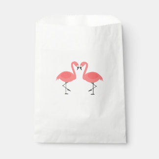 Pink Flamingos Party Wedding Bridal Shower Favour Bag