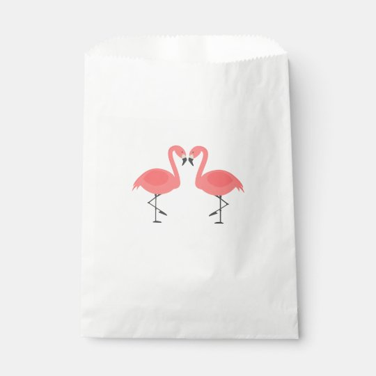 Pink Flamingos Party Wedding Bridal Shower Favour Bag