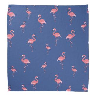 pink flamingos pattern bandana