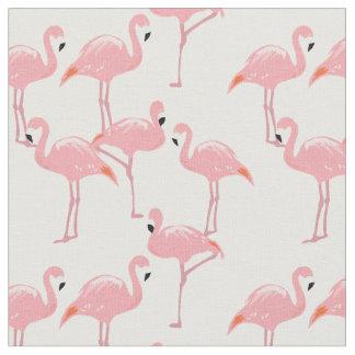 Pink Flamingos Pattern Fabric