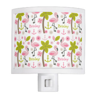 Pink Flamingos Personalized Night Light