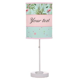 Pink Flamingos Polka Dots Desk Lamps