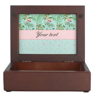 Pink Flamingos Polka Dots Memory Boxes