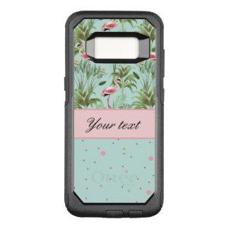 Pink Flamingos Polka Dots OtterBox Commuter Samsung Galaxy S8 Case