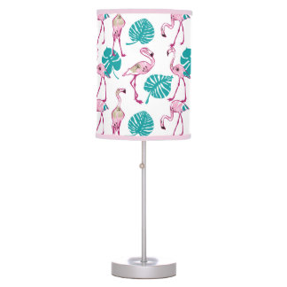 Pink Flamingos Table Lamps