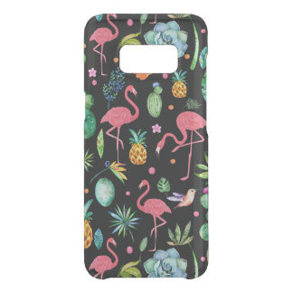 Pink Flamingos & Tropical Flowers Collage Uncommon Samsung Galaxy S8 Case