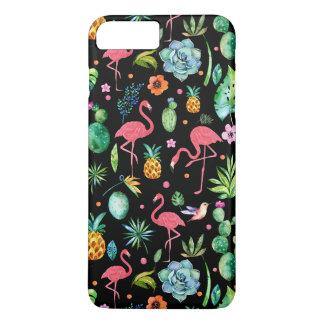 Pink Flamingos & Tropical Flowers & Succulents GR2 iPhone 8 Plus/7 Plus Case