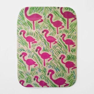 Pink Flamingos Tropical Pattern Burp Cloth