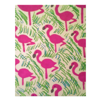 Pink Flamingos Tropical Pattern Customized Letterhead