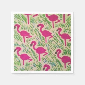 Pink Flamingos Tropical Pattern Napkin