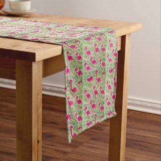 Pink Flamingos Tropical Pattern Short Table Runner