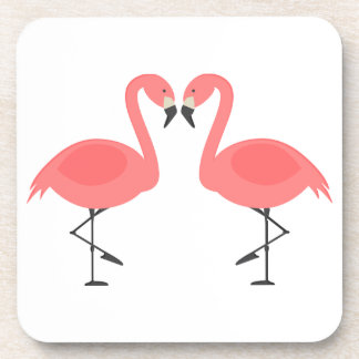 Pink Flamingos Tropical Wedding, Party, Luau Coaster