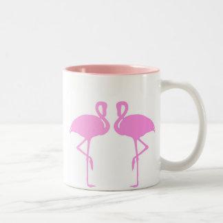 Pink Flamingos Two-Tone Coffee Mug