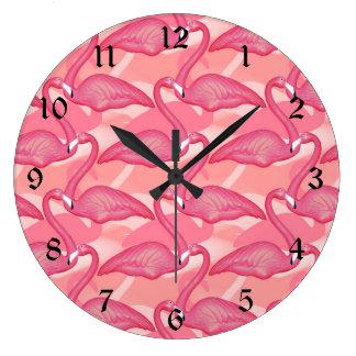 Pink Flamingos Wallclock