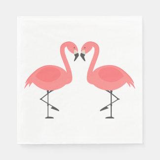 Pink Flamingos  Wedding, Bridal Shower Luau Summer Disposable Napkins