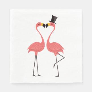 Pink Flamingos  Wedding, Bridal Shower Luau Summer Paper Napkin