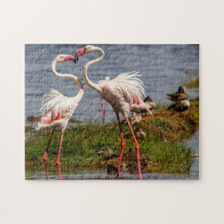 Pink Flamngoes. Jigsaw Puzzle