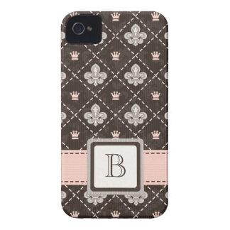 Pink Fleur de Lis iPhone 4 4s Case-Mate Cover