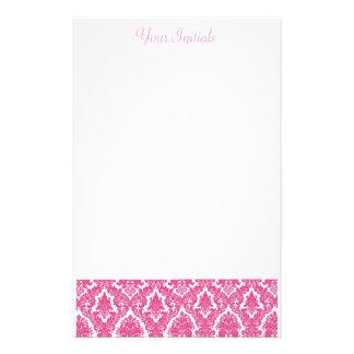 Pink Fleur De Lis Stationery