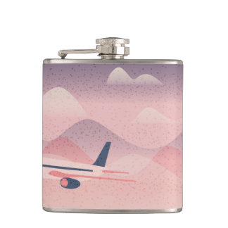 Pink Flight Hip Flask