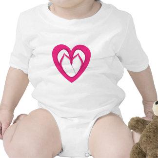 pink flip flop design 2 baby creeper