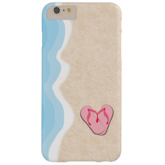 Pink Flip Flops on the Beach Barely There iPhone 6 Plus Case