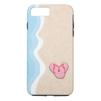 Pink Flip Flops on the Beach iPhone 7 Plus Case