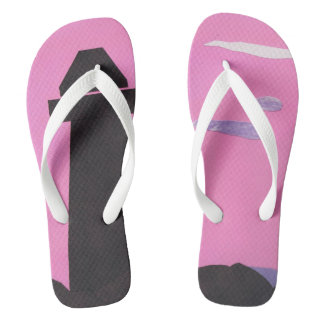 Pink Flip-flops with a Lighthouse Design Flip Flops