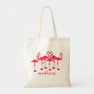 Pink Flock Of Flamingos Themed Tote Bag