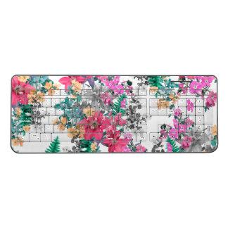 Pink Flora Light by Zala Farah Wireless Keyboard