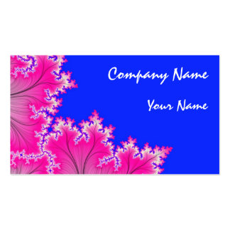 Pink Floral Abstract Business Card