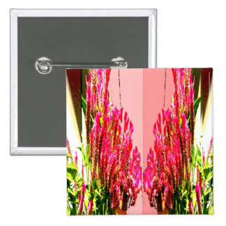 Pink Floral Arrangements Buttons