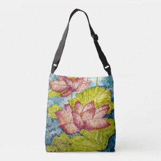 Pink Floral Art Cross Body Bag