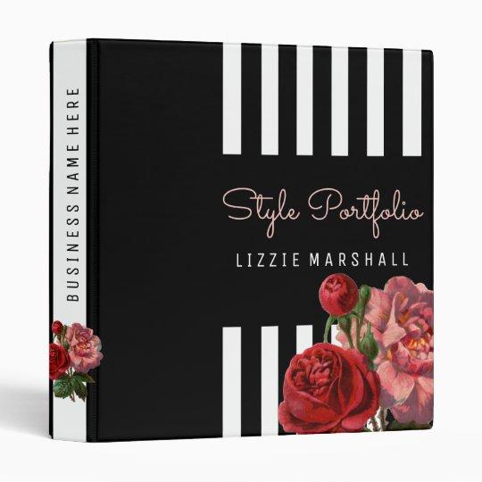 Pink Floral | Black White Stripes Hair Stylist Binders