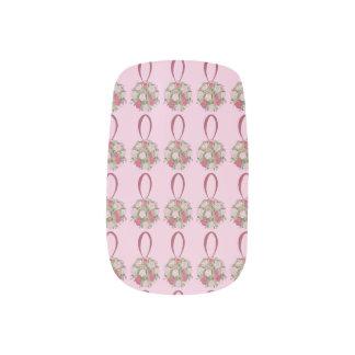 Pink Floral Bouquet Bride Bridesmaid Wedding Nails Minx Nail Art