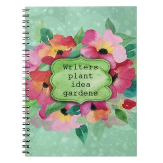 Pink Floral Bouquet   Writers Plant Idea Gardens Notebook