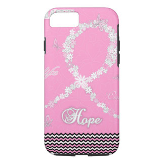 Pink Floral Breast Cancer Awareness Ribbon iPhone7 iPhone 7 Case