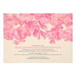 Pink Floral Bridal Shower Invitations Custom Invites
