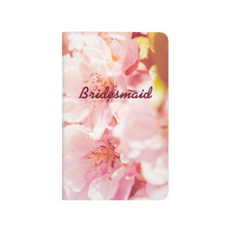 Pink Floral Bridesmaid Pocket Journal