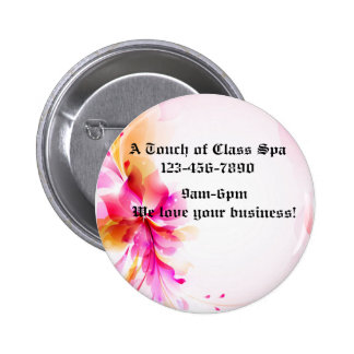 Pink Floral Button